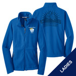 L217 - E236-S1.0&S4.0 - EMB - Ladies Fleece Jacket with Laser Etch Back
