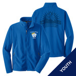 Y217 - E236-S1.0&S4.0 - EMB - Youth Fleece Jacket with Laser Etch Back